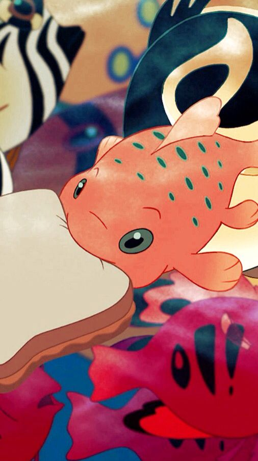 "Disney's Lilo and Stitch - Pudge the Fish with a Peanut Butter sandwich from Lilo because he ""controls the weather"""