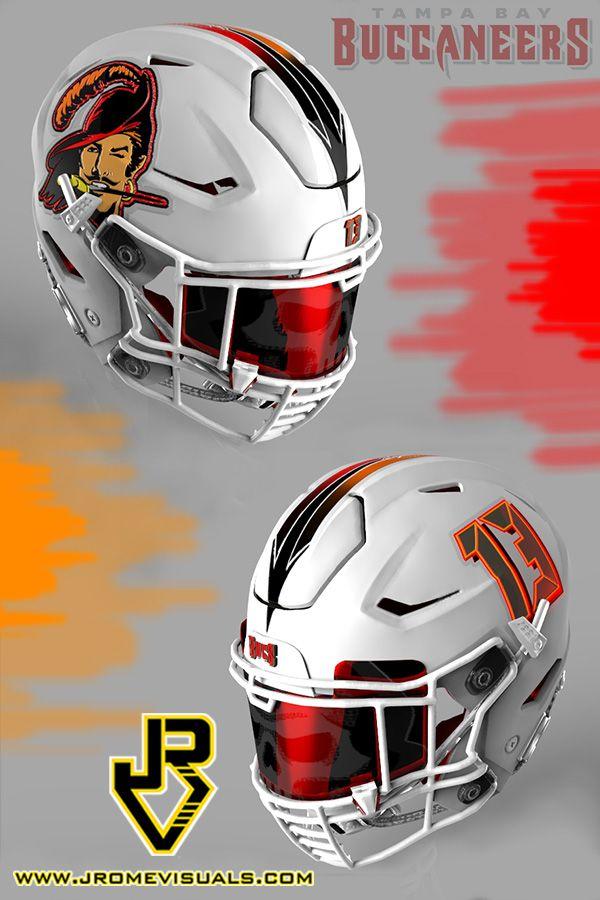 Tampa Bay Buccaneers New Nfl Helmets Football Helmets Cool Football Helmets
