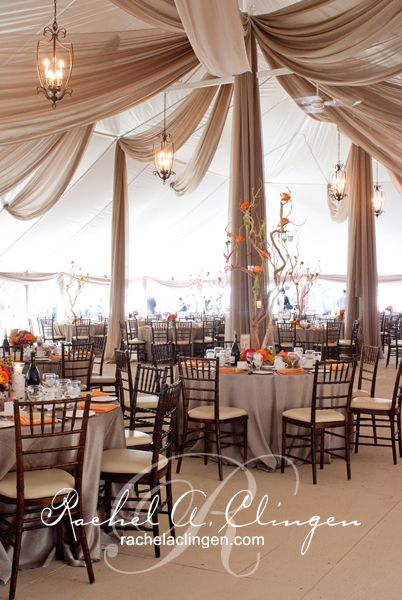 Wedding Tents | Wedding Decoration | Toronto Note how they draped the fabric at different heights, angles, and directions