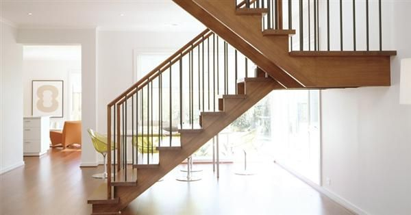 U Shaped Staircase With One Landing Stairs Pinterest