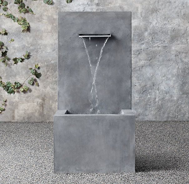 Weathered Zinc Wall Fountain 1-Spout