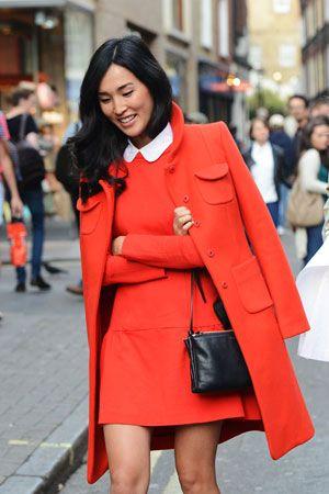 LOOK OF THE WEEK: Nicole Warne in Tara Jarmon, Milan Fashion Week Spring/Summer 2013