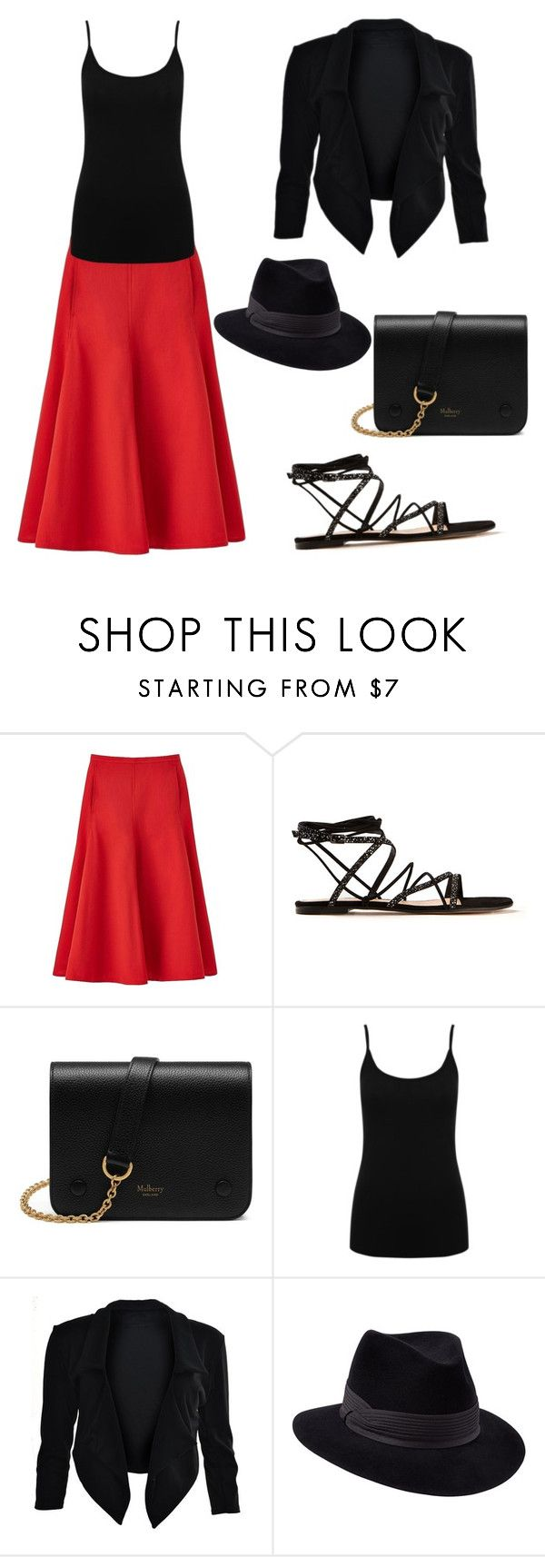 """Untitled #22"" by balog-viki on Polyvore featuring Uniqlo, Gianvito Rossi, Mulberry, M&Co and Penmayne of London"