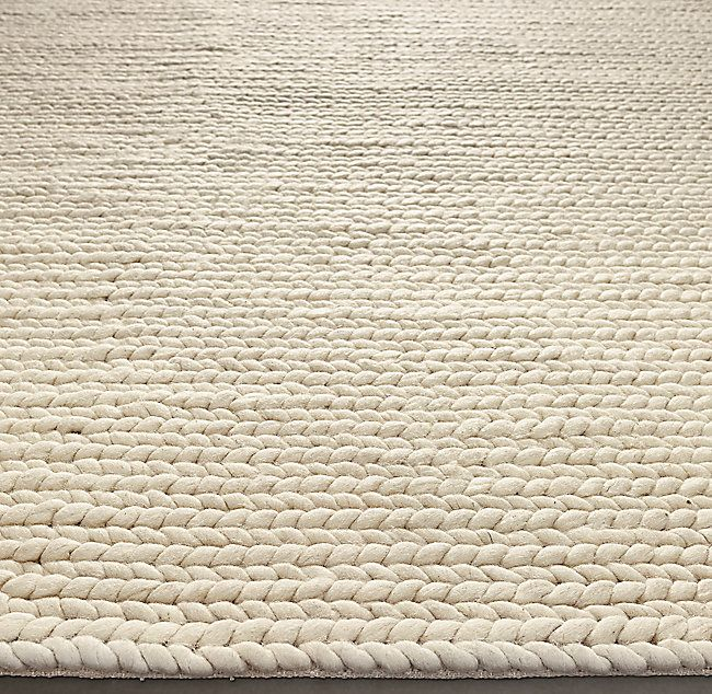 Chunky Braided Wool Rug Braided Wool Rug Chunky Braided Wool Rug Rugs