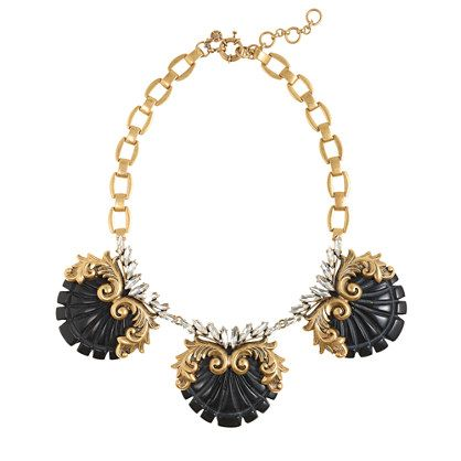 J. Crew Crystal Nouveau Necklace is the right amour of sparkle and detail for spring