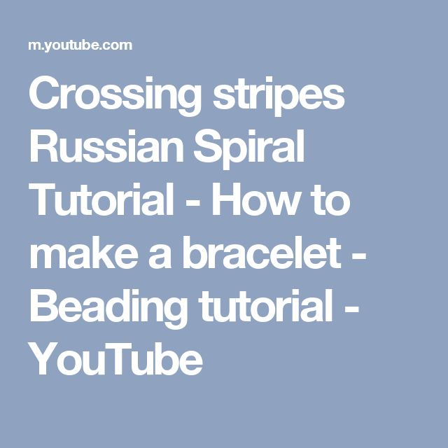 Crossing stripes Russian Spiral Tutorial - How to make a bracelet - Beading tutorial - YouTube
