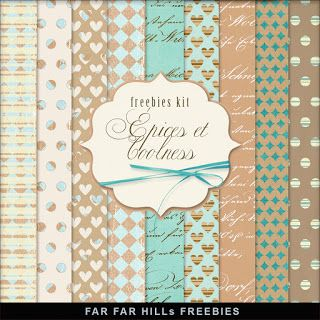 New Freebies Kit of Backgrounds - Épices et Coolness