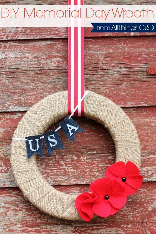 Hometalk :: DIY Memorial Day Wreath