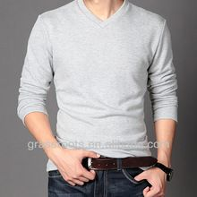 TX0644 Comfortable Fitted Cotton Mens Sweater V Neck Blank T-shirt Wholesale 2014  best seller follow this link http://shopingayo.space