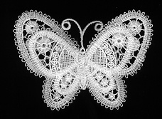 butterfly pin. Bobbin lace