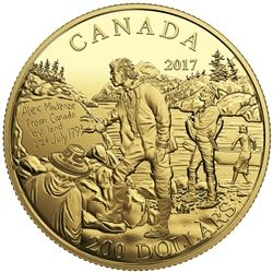 2017 $200 Great Canadian Explorers: Alexander Mackenzie - pure gold coin.