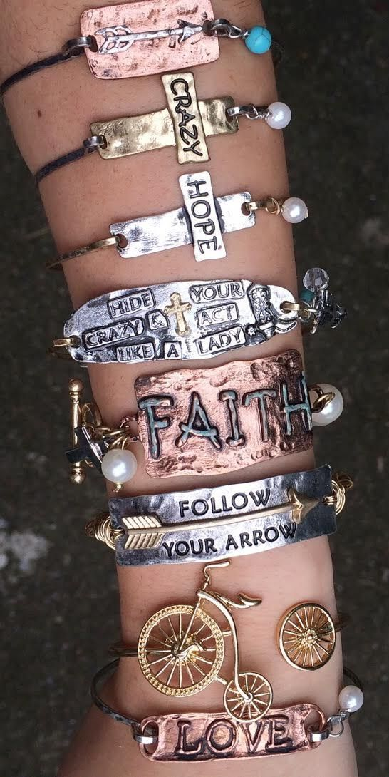 Vintage style gypsy stamped bracelets and necklaces! Perfect fall wear and these make great gifts!