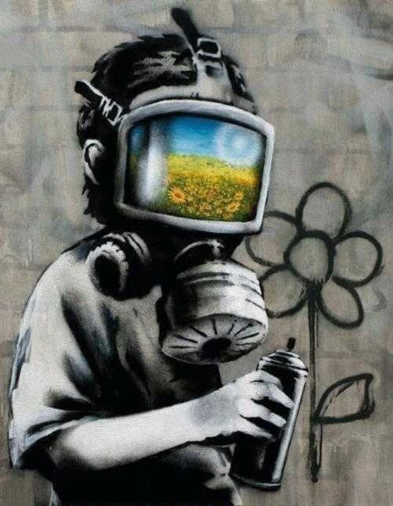 Hey, I found this really awesome Etsy listing at http://www.etsy.com/listing/154764958/banksy-canvas-gas-mask-boy-street-art