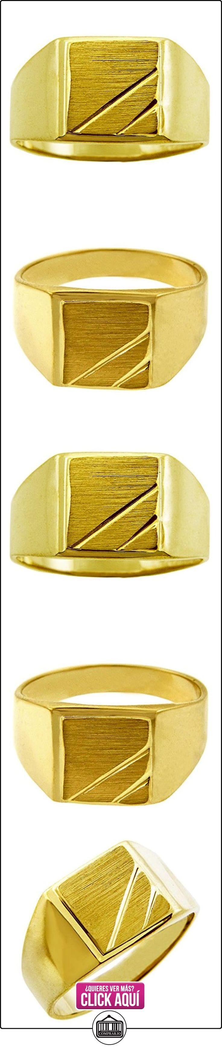 Pequeños Tesoros - Anillos Hombres Alianza De Boda 10 Kt Oro 471/1000 Sortija De sello  ✿ Joyas para hombres especiales - lujo ✿ ▬► Ver oferta: https://comprar.io/goto/B01277ZP4O