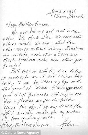 Johnny Cash's birthday letter to his wife June in 1994 has been voted the greatest love letter of all time