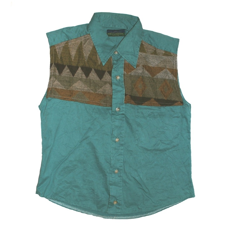 image of jade reworked navajo applique shirt new and