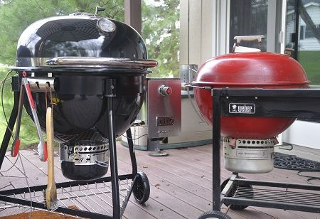 weber summit charcoal grill side byside with kettle