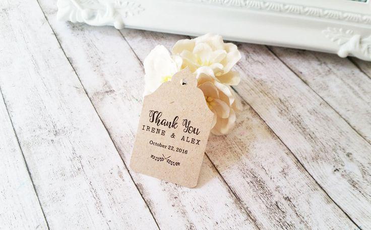 Tags Matrimonio, Biglietti Bomboniere, Targhette Matrimonio, Etichette Kraft Ringraziamento