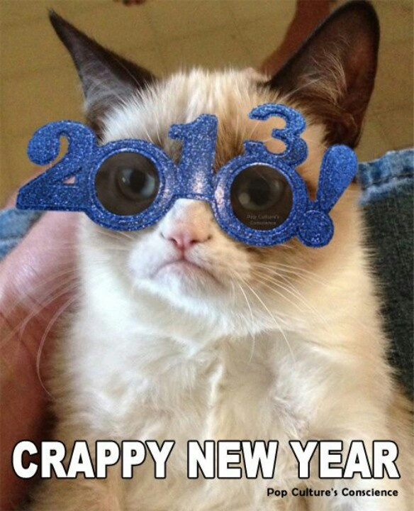 HAHA Crappy New Year from Grumpy Cat!