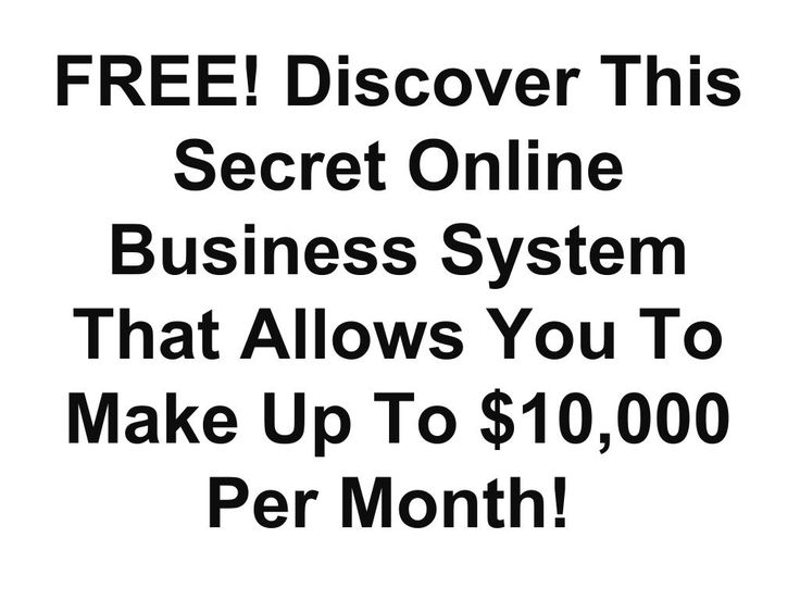 FREE! Discover This Secret Online Business System That Allows You To Make Up To $10,000 Per Month!  https://b2.trafficauthority.net/cp2/mrhomebiz