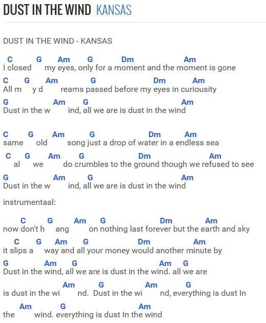 Dust in the wind  Kansas