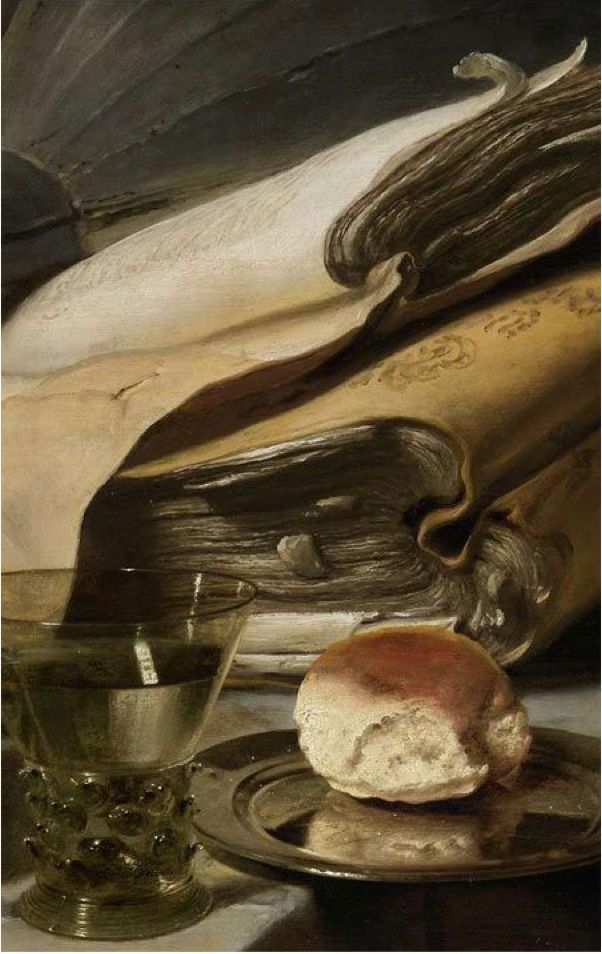 """Still life with Books"", Jan Lievens (Dutch, 1607-1674). Lievens and Rembrandt van Rijn were friends, sharing projects and a studio from ca. 1626 to 1631."