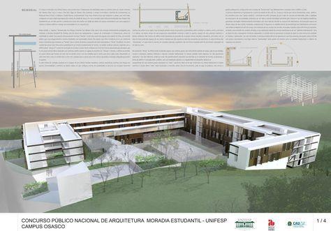 CONCURSO MORADIA ESTUDANTIL – UNIFESP – CAMPUS OSASCO – centro arquitetura