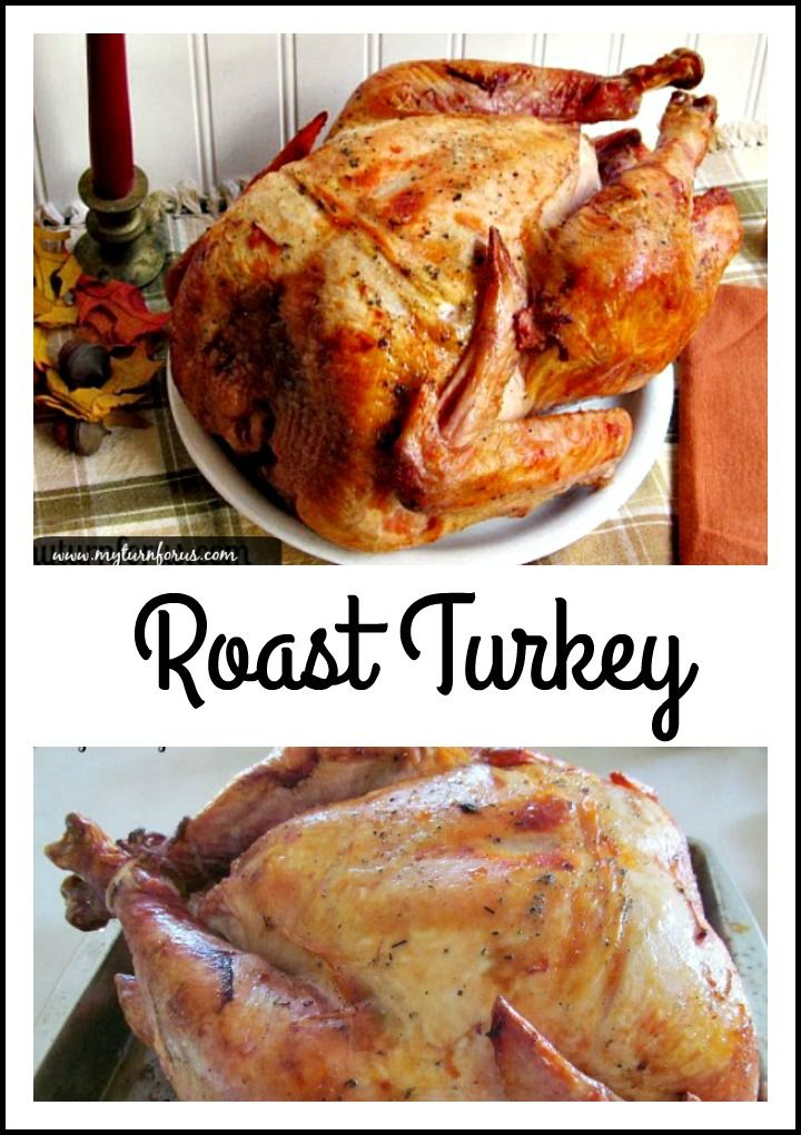 This Turkey is roasted upside down to insure a juicy and flavorful breast.  http://www.myturnforus.com/2013/11/roast-turkey.html