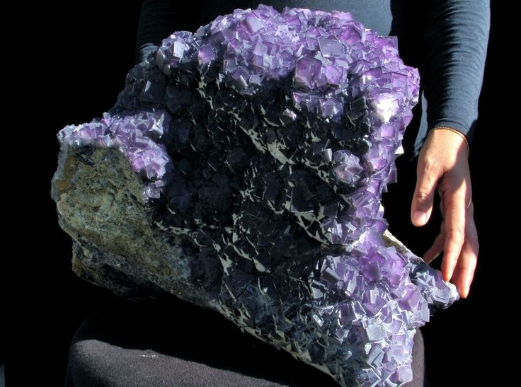76.4Lbs Museum Quality Absolutely Purple Fluorite Mineral Display Specimen!