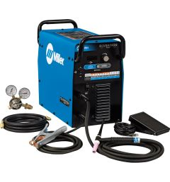 Miller's Diversion 180 TIG Welder is ideal for the personal user. This easy-to-understand TIG welding machine has both 115V and 230V input power capability, while remaining light-weight and portable.