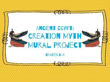 In learning about Ancient Egypt, it is important to discuss the mythology of the culture, specifically the Egyptian creation myth.Use this activity to create a hands-on way for your students to learn about and display their interpretation of the myth.Included:Assignment checklistScoring RubricAlso check out our Ancient Egypt:  Pharaoh Project