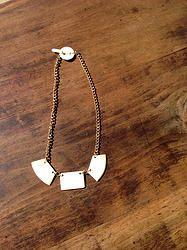 Geo Trio Necklace - $35 - Horn & Bone Collection - All natural materials. Handmade in Haiti. Support job creation in Haiti! Shop @ elishac.com