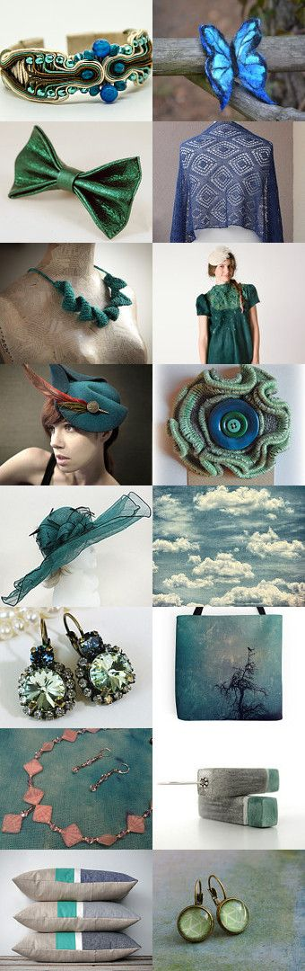 Turquoise emerald dragon by Agnieszka on Etsy--Pinned with TreasuryPin.com