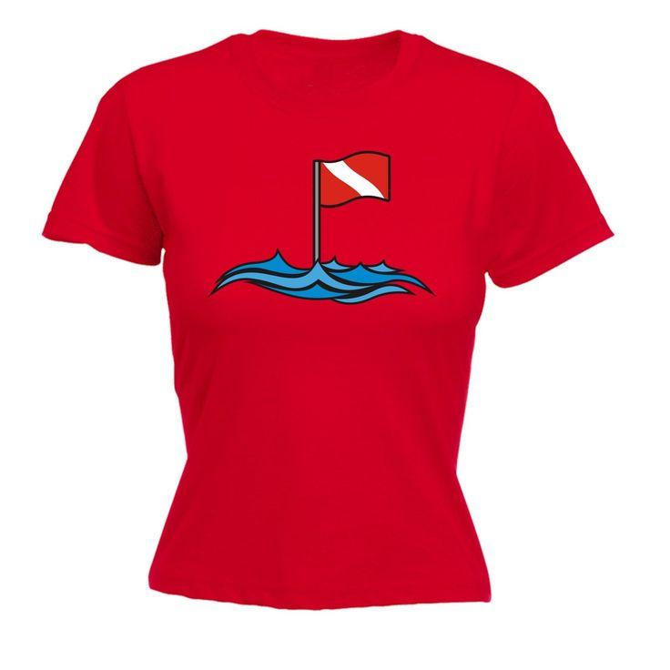 Open Water Women's Dive Site Flag Design Scuba Diving T-Shirt