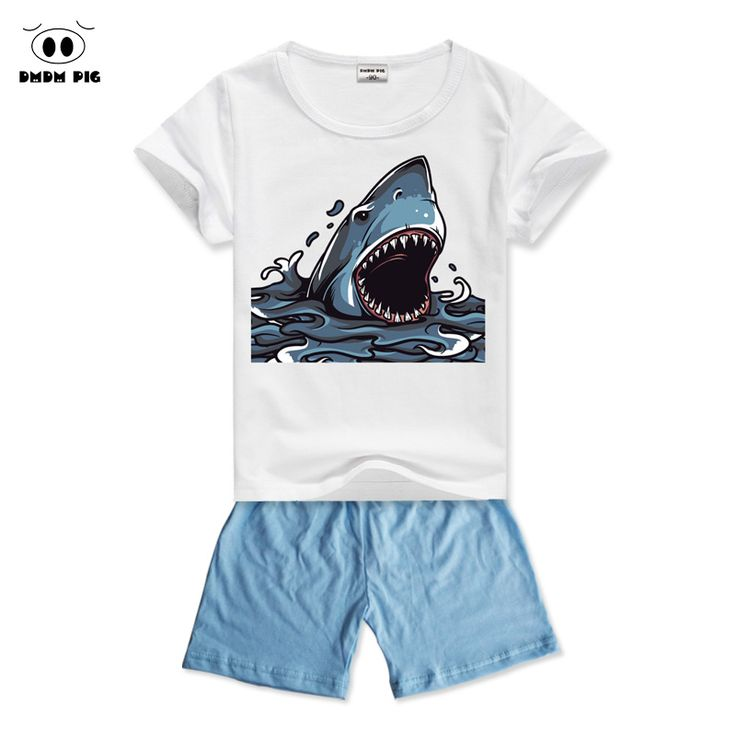 DMDM PIG 2017 Baby Kids Clothes For Boys Clothes Sets Children's Sports Suits For Boys Girls Clothes Summer T-Shirts + Shorts #Affiliate