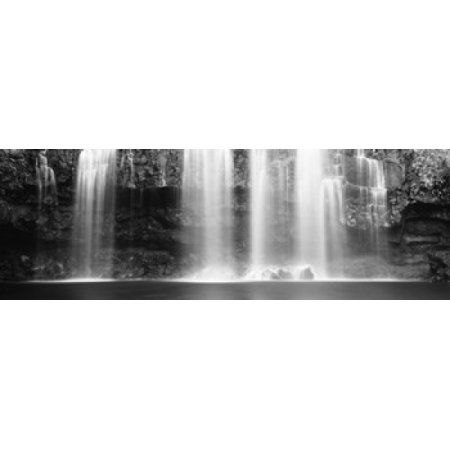 Waterfall in a forest Llanos De Cortez Waterfall Guanacaste Province Costa Rica Canvas Art - Panoramic Images (36 x 12)
