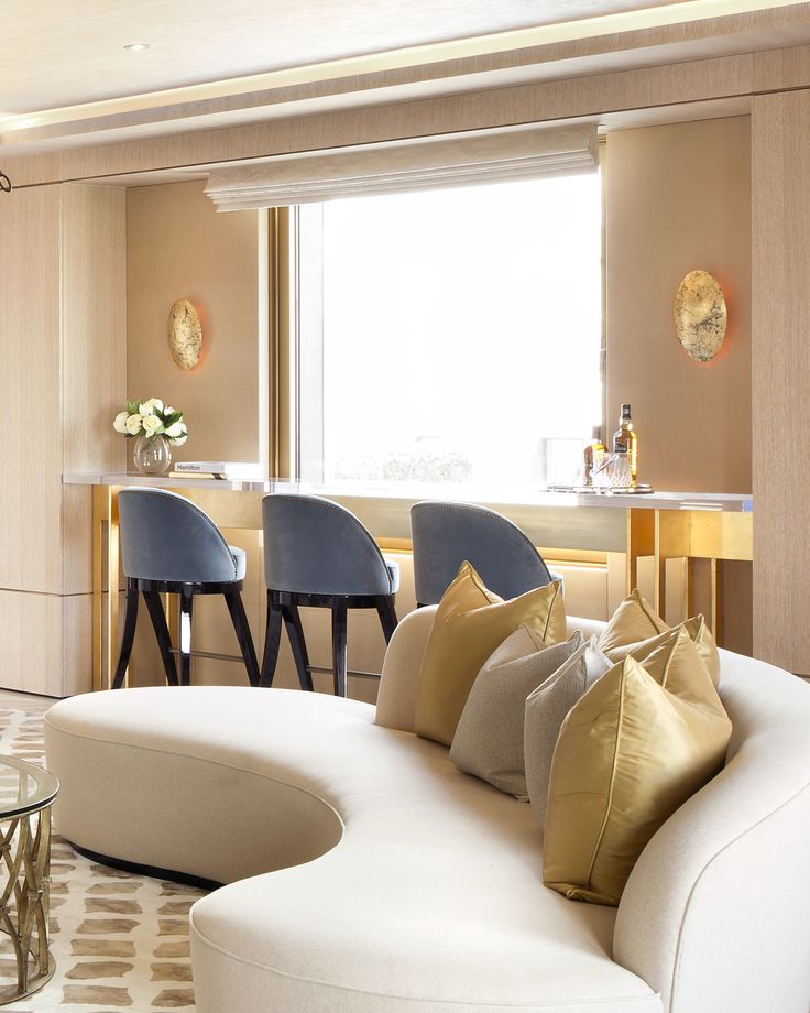 The open-plan living area of Project James includes this bar, with views overlooking St. James' Park. #1508London