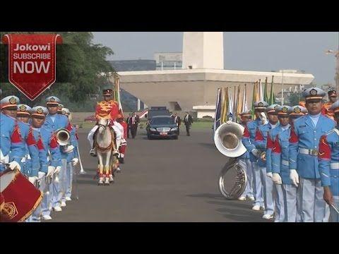 (IDENYA PAK JOKOWI ) Kini Penyambutan Tamu Kepala Negara Keren - Pawai d...