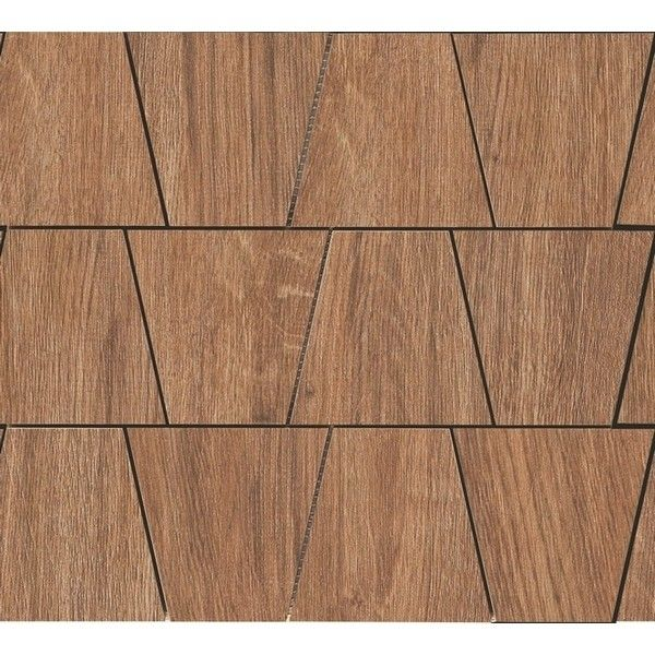 #Ragno #Woodliving #Mosaic Rovere Scuro 30x33 cm R40Q | #Porcelain stoneware | on #bathroom39.com at 198 Euro/sqm | #mosaic #bathroom #kitchen