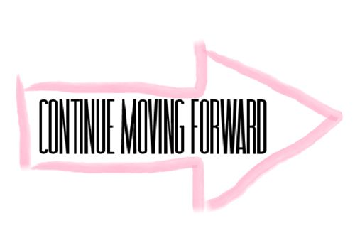 ……Continue moving forward. ————>
