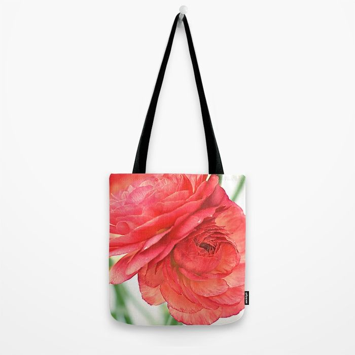 Vintage Ranunculus (10) Tote Bag