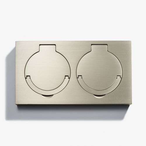 LVL-USA - 180 x 100 - Double Floor Outlet - Water Resistant - Nickel Brossé