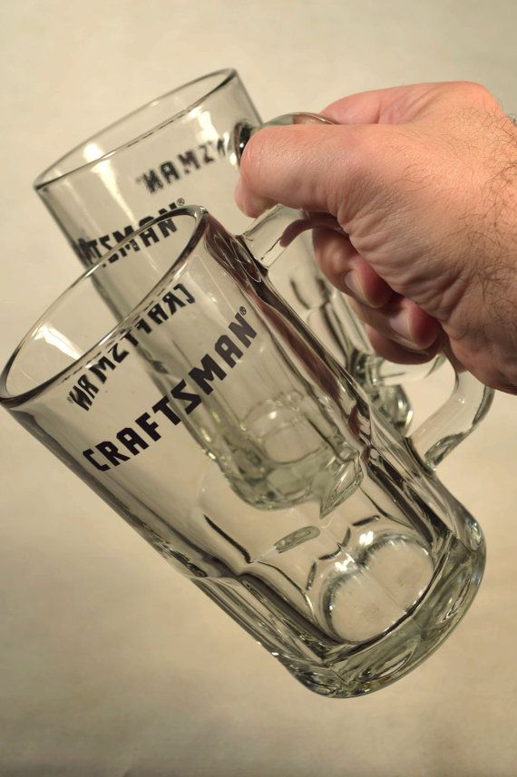 Dad Beer Mugs Father Glasses Craftsman Sears Tool Fix It