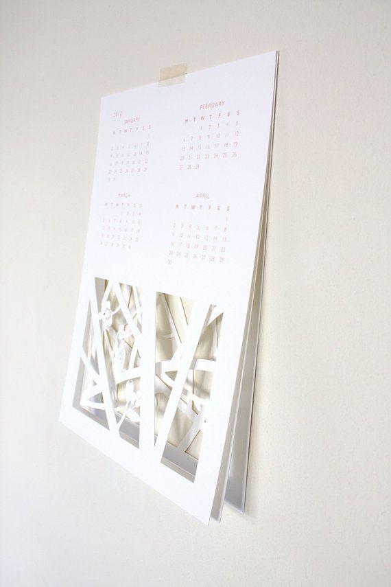 Papercut calendar $35