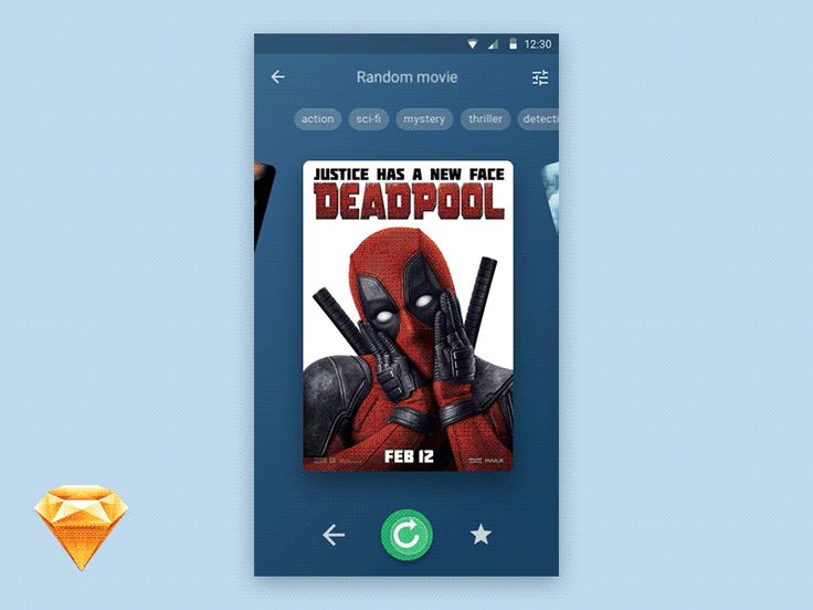 Hey guys!  This is app concept for movie lovers.  I attached the result .sketch file.  Feel free to use it for personal or commercial projects.