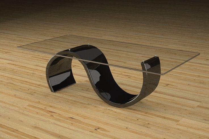 Articolo 416-25     Tavolino da salotto Crono - Finitura: laccato nero lucido.Misure: cm 110 x 65  - Altezza: cm 38 - Peso: Kg. 42 - Vetro: rettangolare -  temperato - extrawhite - filo lucido - spessore 1 cm