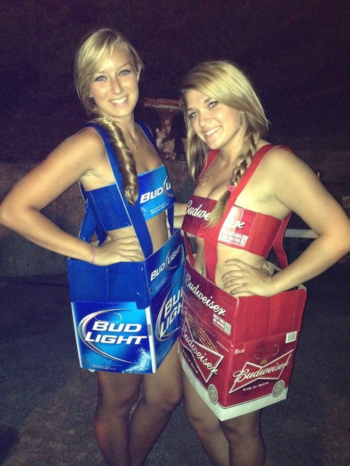 Bud Light and Budweiser Halloween Outfits! #BeerLovesYou #BudLight #Budweiser