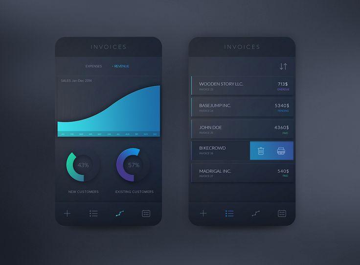 Invoices App Concept