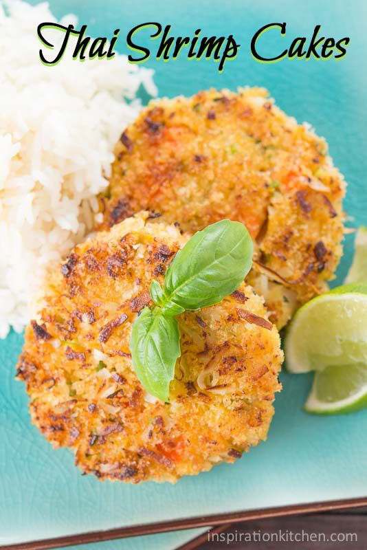 The Asian flavors in these Thai Shrimp Cakes, filled with big chunks of shrimp, sweetened coconut, fresh ginger, and a squeeze of lime, pair...