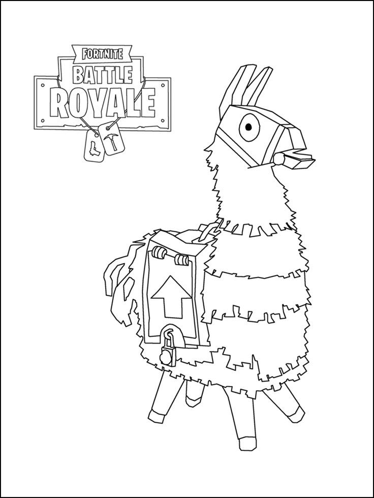 Fortnite+Coloring+Pages+020.png 769×1,024 pixels 塗り絵 無料